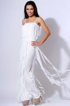 All White, White Women, Clubwear, Formal Dresses, Wedding Dresses, Dress Fashion, Affair, One Shoulder Wedding Dress, Chiffon