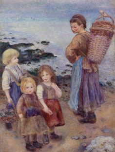 """""""Mussel-Fishers at Berneval"""" (1879) is one of the last two Renoir paintings that Albert Barnes acquired. Barnes amassed 178 Renoir oils during his lifetime. Learn more about the scholarly volume that documents them. (Photos courtesy philly.com)"""