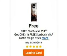 Adding FREE items to your Kroger Plus card is easy.  Use it now to get an instant latte stick from Starbucks.