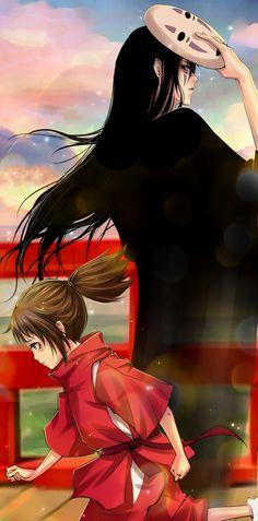 Tags: Anime, Spirited Away, Pixiv, Ogino Chihiro, Kaonashi