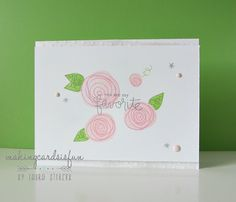 So pretty!   (From making cards is  fun)