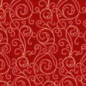 Winter Solstice Red Filigree (8JYA1) ; sold by the yard