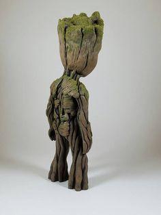 La vie taille bébé Groot sculpture 9.5 de haut