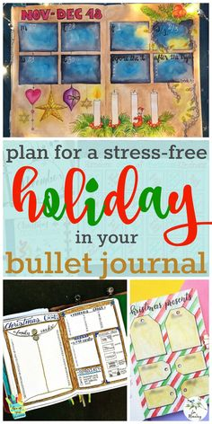 Don't let the holidays sneak up on you. Stay organized by keeping track of all your holiday planning in your bullet journal.