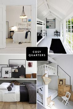 cosy quarters. all so fresh and homey and bright