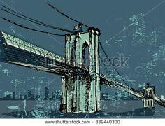 Brooklyn Bridge Stock Illustrations & Cartoons   Shutterstock