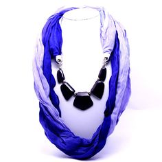 Buy Beora Purple Scarf Patchwork Necklace Rs. 549.00 only.  #purple #scarf #necklace