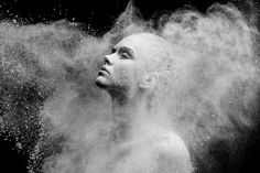 looking at the art of dance through an unusual lens, russian photographer alexander yakovlev has realized the 'mirages' series with flour and ballet dancers.