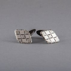 Cuff Links I Silver I Art Deco I Diamond Pattern I Twenties. €75.00, via Etsy.