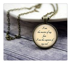 I Am The Master Of My Fate I Am The Captain Of My Soul, Inspirational Quote, Invictus Quote, Graduation Gift *** Want additional info? Click on the image.