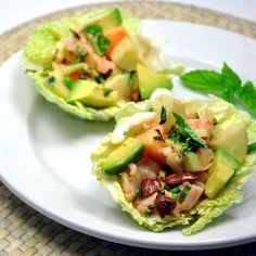 Prawn Melon and Cucumber Salad with Spicy Mayonnaise @pinchandswirl