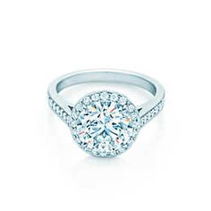 Tiffany Harmony® with Bead-set Band Engagement Rings | Tiffany & Co.