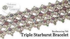 Triple Starburst Bracelet  ~ Seed Bead Tutorials