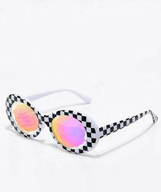 48a5600256 GloFX Clout Kaleidoscope White Checkered Glasses
