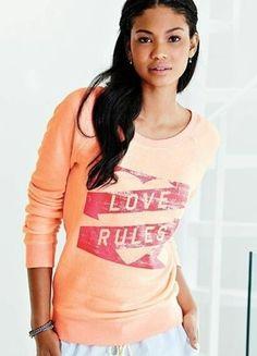 Victoria Secret PINK Neon Super Model Pullover sweatshirt 2