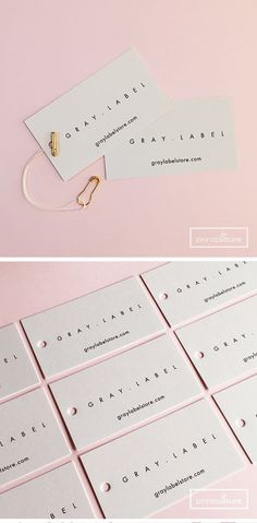 Swing tags in light gray // branding + branded photography obsessed Clothing Logo, Clothing Labels, Clothing Hang Tags, Label Design, Branding Design, Logo Design, Hangtag Design, Design Cars, Logo Branding