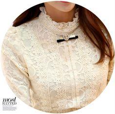 Nuevo 2014 Ropa de Mujer de moda Blusas Femeninas Blusas y Camisas de Lana Las Mujeres de Ganchillo Blusa Camisa de Encaje 999 en Blusas y Camisas de Ropa y Accesorios de las mujeres en AliExpress.com | Alibaba Group
