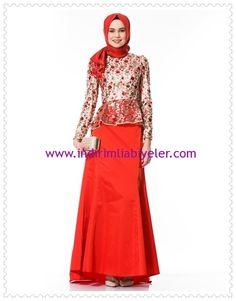 Kayra ikili kuyruklu kırmızı abiye takım elbise