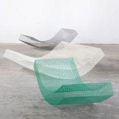 Muller van Severen designs rocking wire daybeds for Spanish summer house: