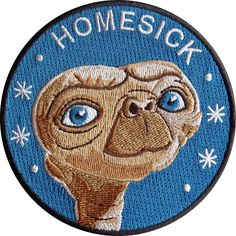 Homesick is a 9 cm embroidered patch with merrowed edge and iron-on backing. Made in Spain. Follow the iron on patch instructions below (click to...