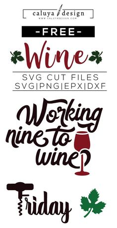 Free Wine Elements SVG, PNG, EPS & DXF by Caluya Design. Compatible with Cameo Silhouette, Cricut and other major cutting machines!Perfect for your DIY projects, Giveaway and personalized gift. Wine Glass Sayings, Wine Quotes, Wine Glass Decals, Free Svg Cut Files, Svg Files For Cricut, How To Make Planner, Freebies, Silhouette Cameo Projects, Cricut Explore