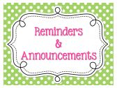 Reminders & Announcements Sign - FREE product from The-Learning-Effect on TeachersNotebook.com