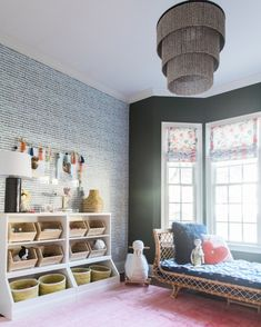 This playroom is proof that paint and wallpaper can revive any ole space . See the full reveal on the blog (link in profile) today!  http://liketk.it/2uqc0 #liketkit @liketoknow.it To get the product details for this look and others, follow me on the LIKEtoKNOW.it app