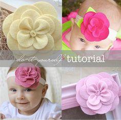 "Felt Flower Pattern Tutorial - ""Gardenia"""