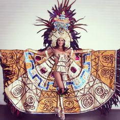 """#ShareIG Miss Universe Cuzcatlan """"El Salvador""""  #indigenousbeauty #nativebeauty #toltec #tlaloc #pipil #mayan #cuzcatlan #elsalvador"""