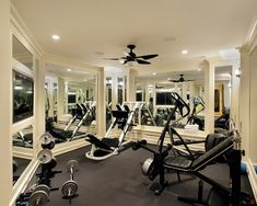 Decoration, Home Gym Mirrors Picture Good White Color Roof Nice Picture  Black Color Picture Good Fan Nice Glass Wall Picture Good Color:  Comfortable Place ...