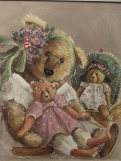 Kathy Karas is an Australian artist and many of her art works feature teddy bears.