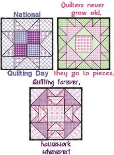 ideas/patterns for quilt cards...