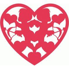 Silhouette Design Store - View Design #54238: cupids heart