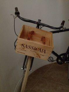 Wine box with leather straps for bike por MonroeTrades en Etsy
