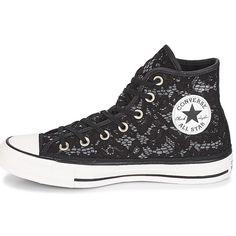 ffe621b976a Chaussures Femme Baskets montantes Converse CHUCK TAYLOR ALL STAR-HI Noir    Blanc Converse Femme