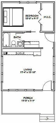 PDF Floor Plan 540 sq ft Model 5A 18x30 Tiny House