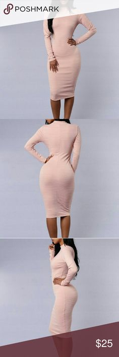 FASHION NOVA BLUSH DRESS ON SALE ❤❤ Beautiful and classy midi fashion nova dress great for any occasion (: Fashion Nova Dresses Midi
