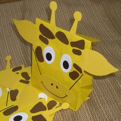 kids jungle birthday party pictures | Giraffe Treat Sacks - Jungle Zoo Safari Theme Birthday Party Favor ...