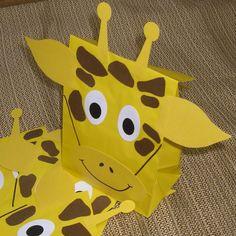 kids jungle birthday party pictures   Giraffe Treat Sacks - Jungle Zoo Safari Theme Birthday Party Favor ...