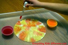 It takes a couple of tries for kids to get the hang of this activity, but the designs they create are quite pretty!