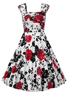 Women Vintage 1950's Floral Print Picnic Party Cocktail D... https://www.amazon.com/dp/B01JA4UU2O/ref=cm_sw_r_pi_dp_x_5F3bybC071WCW