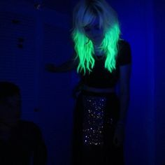 Glow in the dark hair.   Your friends will never lose you at a club or if there is a power cut. haha