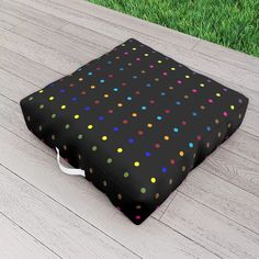 Dots & Colors Outdoor Floor Cushion by scardesign Outdoor Floor Cushions, Polka Dots, Colorful, Decoration, Outdoor Decor, Modern, Summer, Gifts, Stuff To Buy