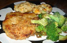 My stuff, my life: Parmasan crusted pork chops....