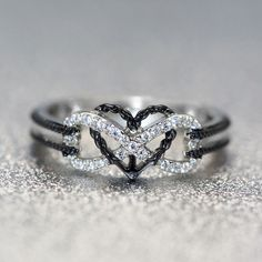 Love You Forever Promise Ring With Infinity And Heart Designer Jewelry