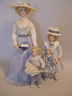 GOOD TIMES: July - Time For Trips To The Seaside (Dollshouse dolls by Debbie Dixon-Paver)
