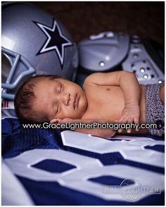 Dallas Cowboys baby photography