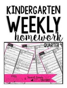 These weekly kindergarten homework packets are great to add to your calendar! They are filled with math and sight word practice and facilitate a great learning routine at home! #ideas #misskindergarten #printable