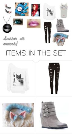 """Three eyed cat"" by lily96277 on Polyvore featuring art"