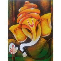 Painting Abstract Acrylic Canvases Texture 52 New Ideas Lord Ganesha Paintings, Ganesha Art, Krishna Art, Buddha Painting, Painting Wallpaper, Acrylic Painting Canvas, Painting Abstract, Painting Art, Yellow Painting
